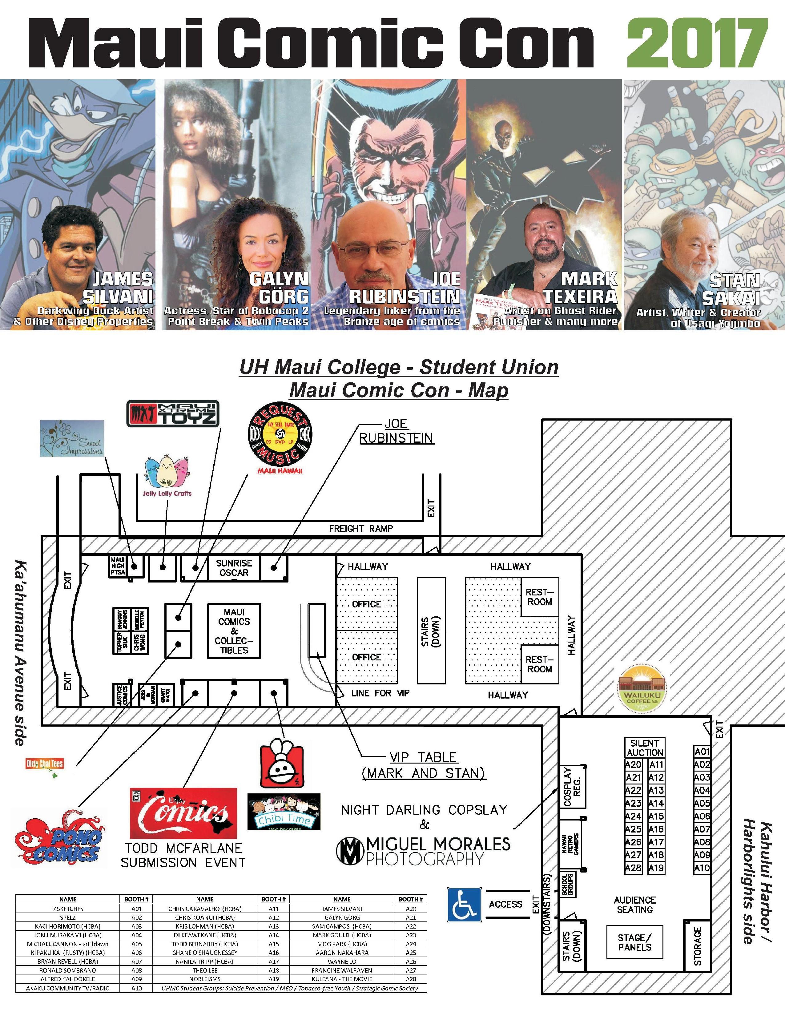 Maui Comic Con Pamphlet 2017 Front